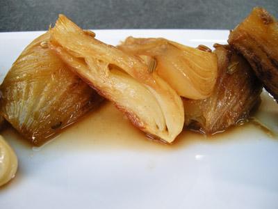 Fenouil braisé au pastis