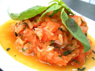 Concassé de tomate fraîche