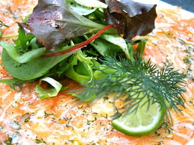 Carpaccio de saumon à l'aneth