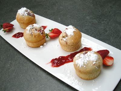 Bouchées moelleuses à la confiture de fraises