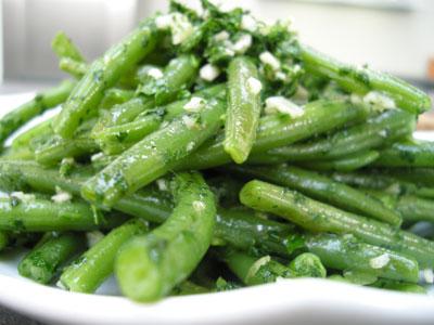 Poêlée de haricots verts