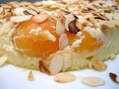 Flan aux abricots et aux amandes