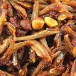 Spicy Asian Cuisine Anchovies Dish Which is Hot Spicy and Sour